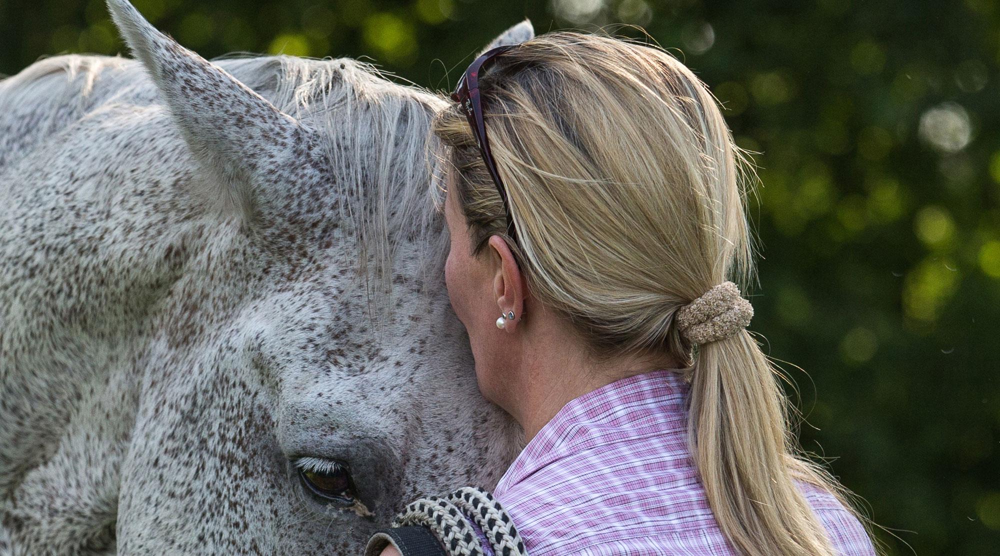 Doris Börner mit Pferd